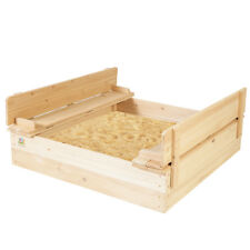 LIFESPAN OUTDOOR KIDS WOODEN SAND PIT TOY DEMO STRONGBOX SQUARE SANDPIT