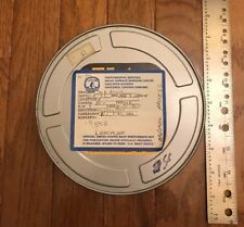 """1990's Vintage US Navy 7"""" 8mm Metal Film Reel Cans Canisters Cases--EMPTY"""