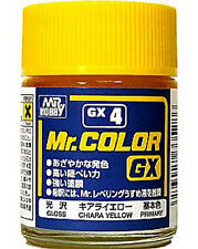 GSI CREOS GUNZE MR HOBBY Color GX004 GX4 Chara Yellow LACQUER PAINT 18ml NEW