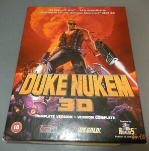 DUKE NUKEM 3D Complete edition W98 Original US Gold EURO BIG BOX PC game V VGC