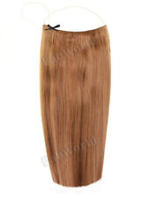 """Halo 20"""" Straight One Piece 100% Remy Human Hair Extensions Chestnut Brown"""