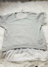 7 for all Mankind womens muscle sweatshirt in Gray  white underlay size M-E14