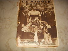 MIROIR des SPORTS 724 15.08.1933 CYCLISME CHPT MONDE SPEICHER AVIATION CODOS