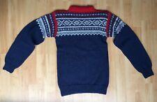 Hand Knitted Norwegian Marius Alpaca Wool Jumper Sweater XXS 30/32 Slim Fitted