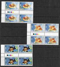 E6616 CHINA Hong Kong 1993 GOLD FISH BLOCKS OF 4 MNH