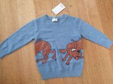 Seed Heritage - Boys Dog Print Crew Knit Jumper  - Size 2 RRP $49.95