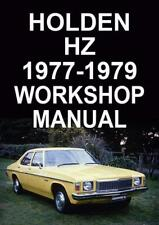 HOLDEN HZ 1977-1979 WORKSHOP MANUAL