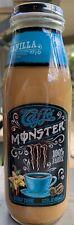 NEW CAFFE MONSTER ENERGY COFFEE VANILLA DRINK 13.7 FL OZ FULL GLASS BOTTLE 100%