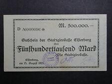 BGN-17: SCARCE GERMAN Inflationary Notgeld, ELSTERBERG, 500,000 Mark, 1923