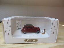 """Wiking, 798 03 34, Citroen 2CV, rot, """"Weihnachtsmodell 1999""""    1 : 87"""