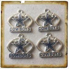 🇺🇸 NFL Lot Of 4 Dallas Cowboys Enamel Charms / Brand New