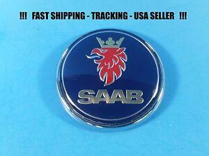 NEW Saab 9-3 9-5 Front Hood Emblem Badge Bonnet Symbol Logo 5289905 12785870 USA