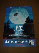 E.T. The Extra Terrestrial Movie Video Promotional Pepsi Poster 39 x 26