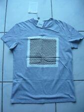 Roda T-shirt gris clair chiné taille S coton Heather Grey Cotton Italy soupière