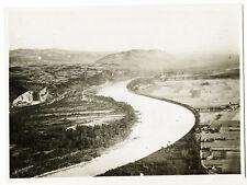 Soyons et le Rhône, vue aérienne 1935 - Photographie ancienne