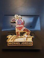 CHICAGO BULLS MICHAEL JORDAN 1988 SLAM DUNK CHAMPION LAPEL PIN SIGNATURE EDITION