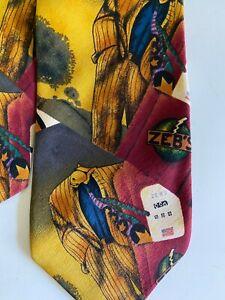RARE Markus Pierson Collectible Neck Tie zebs silk cigarette tobacco gift