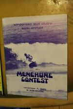 WindAnSea La Jolla Menehune 1970 Skip Frye Rick Griffin Cr8 Rare Contest Program