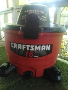 Craftsman 5.5 Peak HP Heavy Duty shop Vac wet dry - 16 Gallon