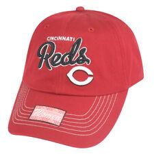 MLB Cincinnati Reds Girlfriend Women Ladies Garment Wash Strapback Relax Hat Cap