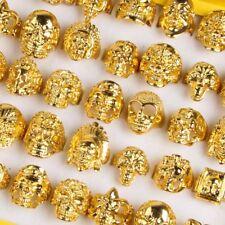 Wholesale 20pcs Mix Gold Top Skull Silver Men's Rings Fashion Jewelry Biker Punk