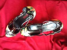 Joe Browns quirky shoes. Size 6 satin finish with striped high heels