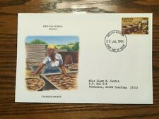 """Ghana """"Chorkor Smoker"""" Issue on First Day Cover, 1991"""