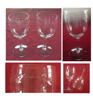 VINTAGE Wine Glasses 8 oz. Cut Horizontal Leaf Vine Clear 2-Piece Set