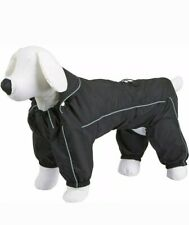 Kerbl Manchester Black Waterproof Dog Rain Coat Suit - S