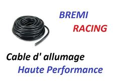 CABLE FIL DE BOUGIE ALLUMAGE SILICONE NOIR RACING  AU METRE Mercedes