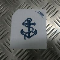Genuine British Royal Navy White Leading Rate (PO) Patch Sew on Badge EPB98