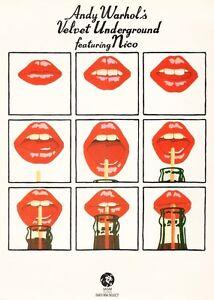 A.Warhol The Velvet Underground Retro Poster Wall Pop Art Room Decoration 1970