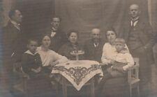 4/140 AK OSTERN 1921 - HASE + EIER TISCHDEKO FAMILIE TISCH DECKE MARINEANZUG
