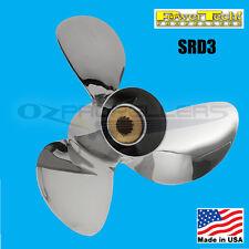 40 50 60 65hp Suzuki Power Tech SRD3 Stainless Steel Performance Propeller Prop