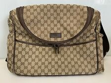GUCCI Diaper Bag GG Monogram Baby Bag Canvas Made in Italy