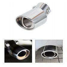 1Pcs Round Bend Car Stainless Steel Chrome Exhaust Tail Muffler Tip Pipe- NEW