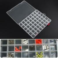 Plastic 48 Compartments Fishing Lure Bait Hook Tackle Storage Box Case Container