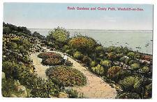Rock Gardens & Crazy Path, Westcliff on Sea PPC 1930 PMK to Bournemouth