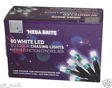 Christmas Lights 80 White LED Outdoor Chasing Lights with 8 Function Control Box
