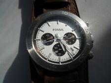 Fossil Herren Chronograph braun Leder Band Analog, Quarz & Batterie Uhr.Ch-2857