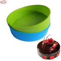 10 Inch Large Round Silicone Bakeware Cake Baking Trays Pan Muffin Bread Mold