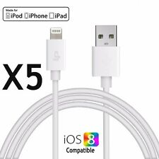 5 x New Lightning 8Pin USB Data Sync Charger Cable Cord for iphone 6 plus 5 5s