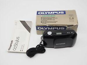 Olympus Infinity Stylus 35mm Point & Shoot Film Camera Black With Box, Manual