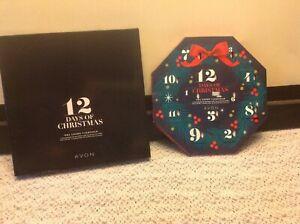 2 New~Avon's 12 Days of Christmas Tea light ADVENT Calendars Holiday Scents