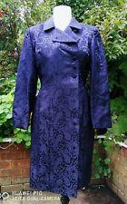 NWT NIGHTSHADE by August Silk Purple Damask Silk Gothic Bohemian Frock Coat 14