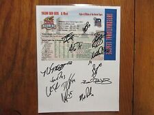 2007 Toledo Mud Hens  Signed Page(13 Signed-JAIR JURRJENS/MATT YOYCE/JEFF LARISH
