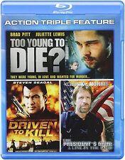 3 film action  Brad Pitt, Steven Seagal, Chuck Norris, Juliette Lewis
