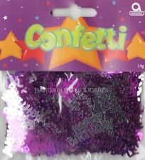 3 Pack Feliz Cumpleaños Confeti / Cuadro De Zarzamora Color Rosa Mesa Decoraciones