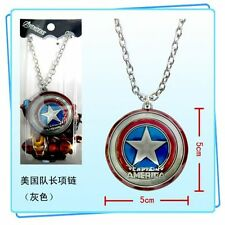 CAPTAIN AMERICA SHIELD SCUDO COLLANA NECKLACE CAPITAN THE AVENGERS IRON MAN