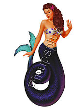 Retro Mermaid Pinup Girl Waterslide Decal Sticker for Guitars & Much More S758